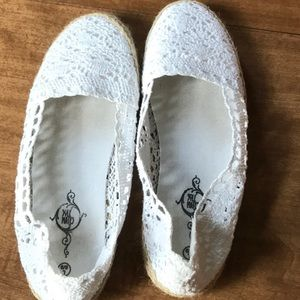 Shoes - White slip on shoes